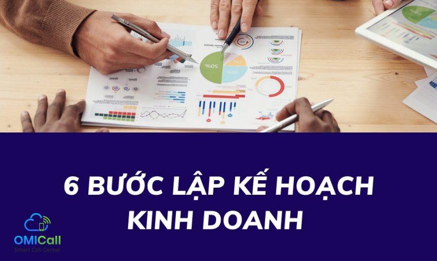 6 bước lập kế hoạch kình doanh