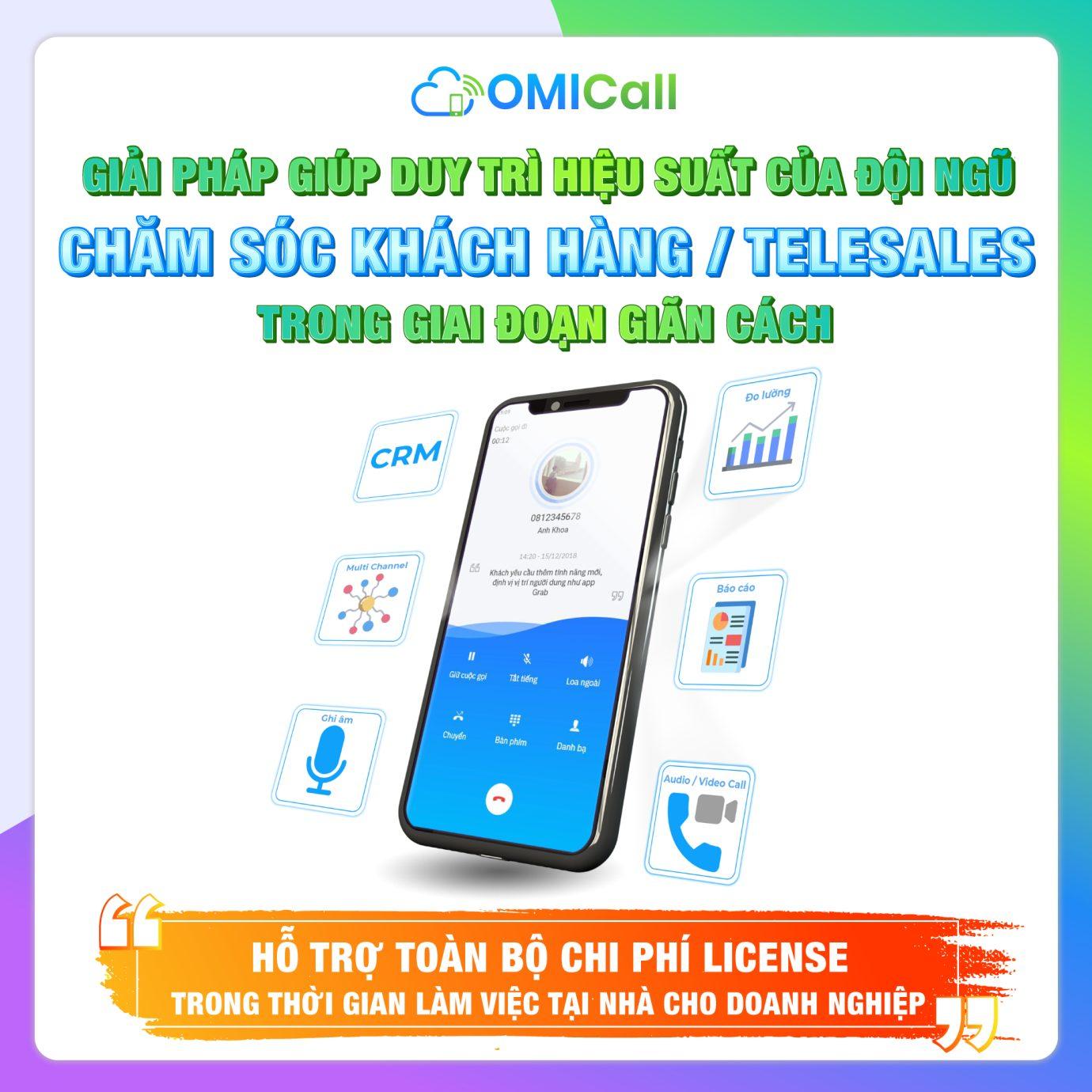 Tổng đài đa kênh OMICall miễn phí License trong thời gian phong tỏa 3