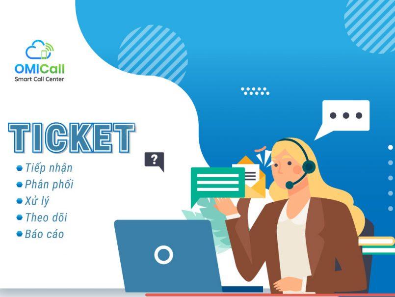 Sử dụng ticket để quản lý thông tin và chăm sóc khách hàng